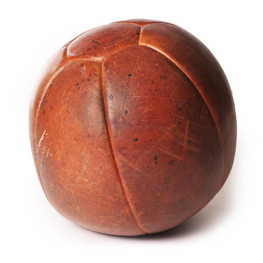 Vintage leather medicine ball s thcdesign