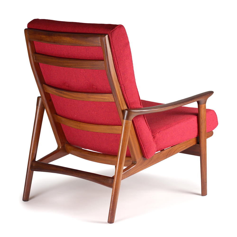 Afromsia Wood Lounge Chair 1960s 171 20thcdesign Com